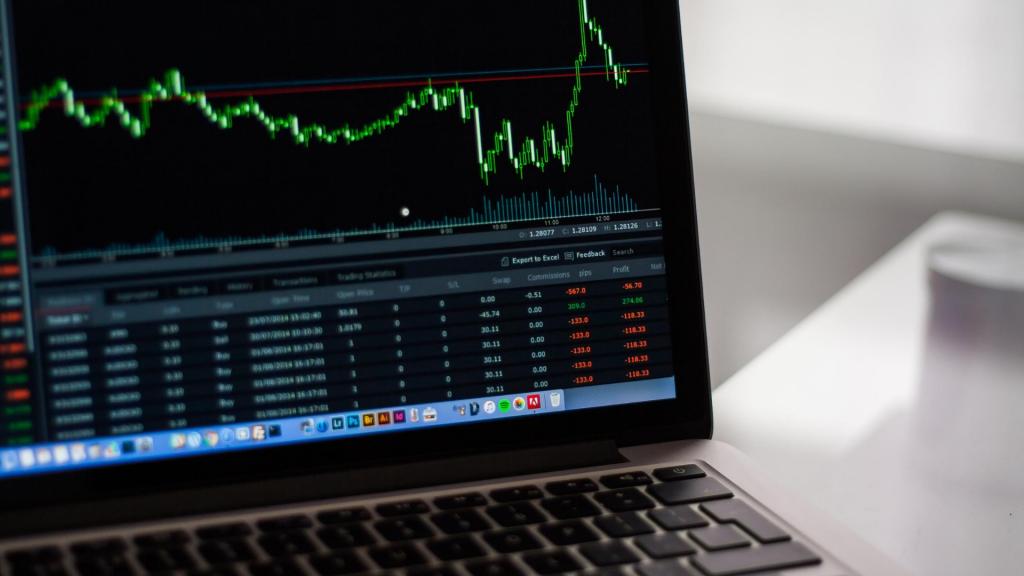 株価のパソコン画面