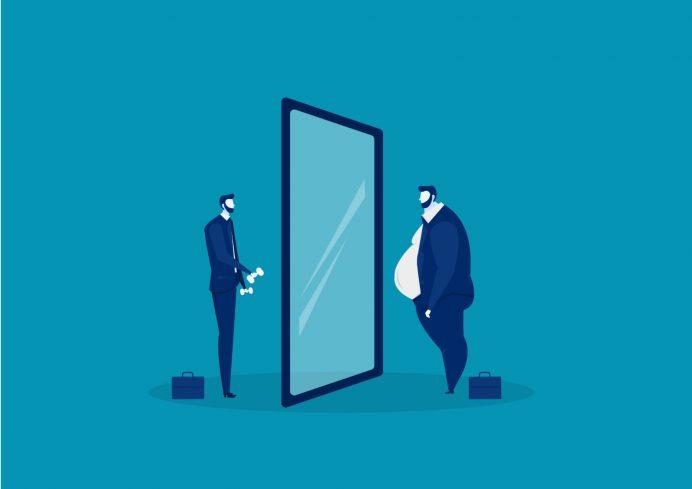鏡に向き合う