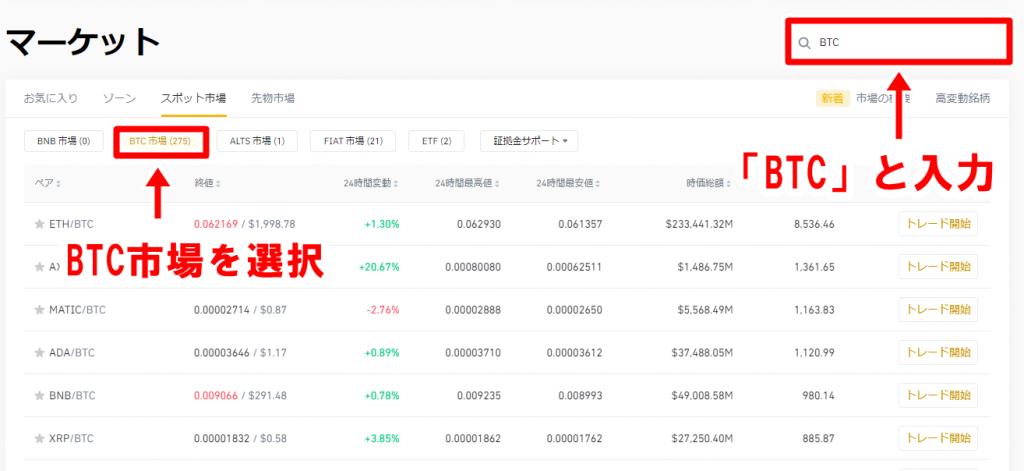 BINANCE_BTC購入画面