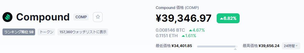 COMP価格