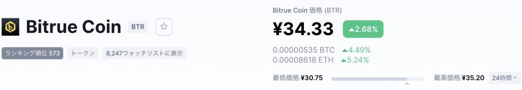 BTR価格