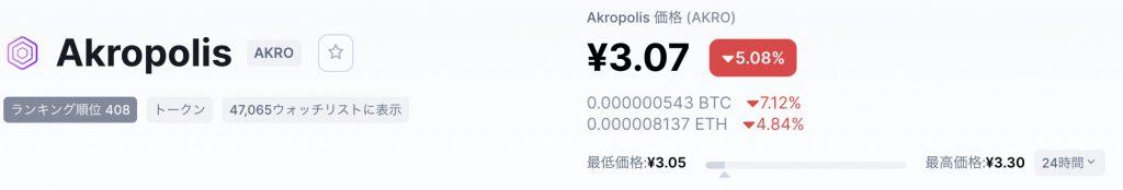 akro価格